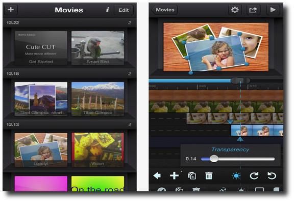 Cute CUT, un editor de video para iOS con linea de tiempo multicapa