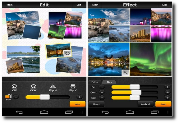 Picq, crear collages de fotos con efectos desde Android