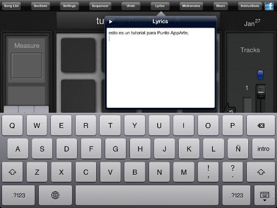 Coloca letra a tus beats en BeatPad