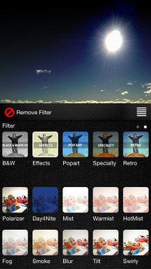Filtros de la app Filters para el iPhone