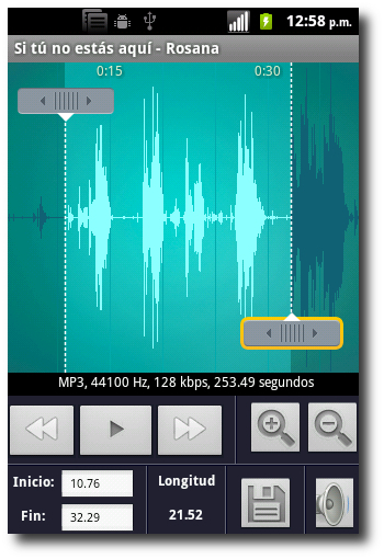 Editar Longitud En Ringtone Maker