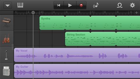 Actualización de GarageBand iOS con soporte para AudioBus