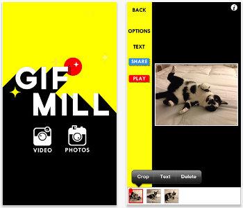 GifMill – Nueva app para crear Gif animados