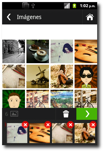 seleccionar imágenes en Photo Grid-Collage Maker