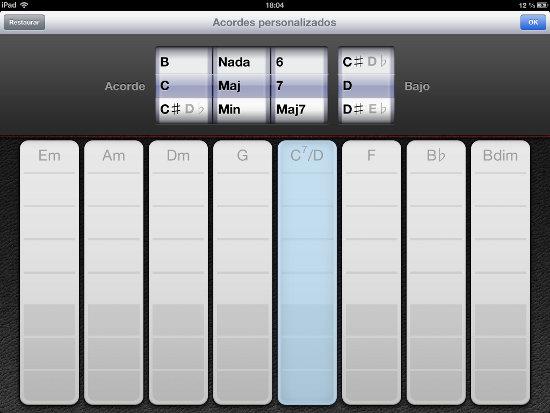 Personalizar acordes en GarageBand iOS