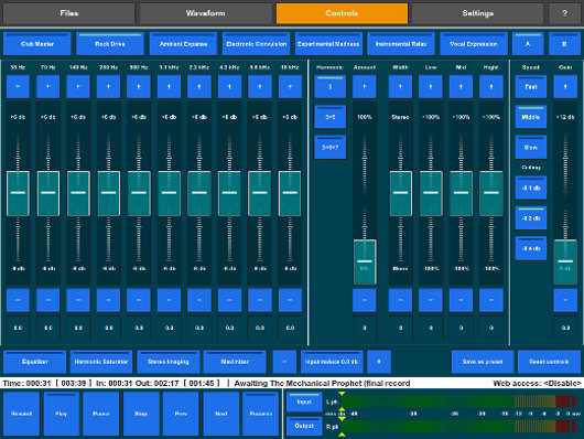 ipad audio mastering