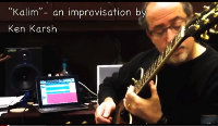 "Ken Karsh – ""Kalim"" – A Moment with my guitar and iPad"