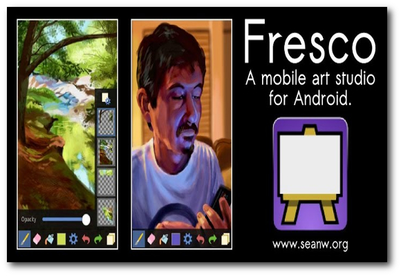 Fresco Paint Lite, aplicación de pintura para Android