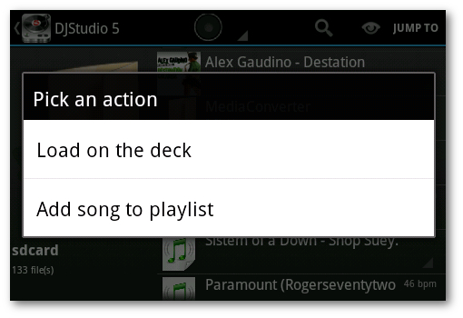 playlist DJ Android