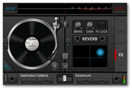 añadiendo reverb en DJ studio 5