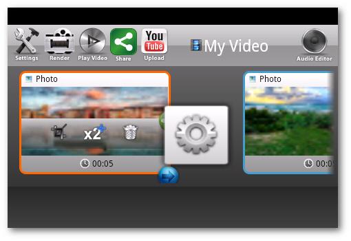 área de edición de videos andromedia