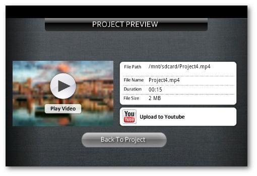 vista previa de Andromedia para subir videos a YouTube desde Android
