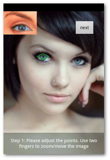 Color Studio para cambiar el color de los ojos