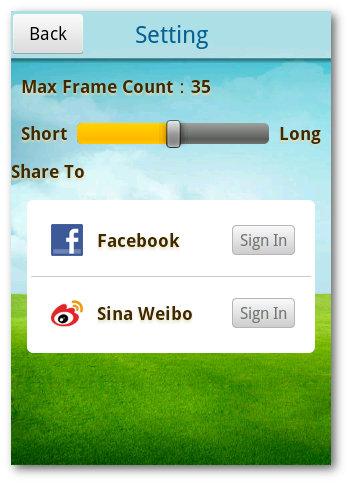 Setting app android para Gif
