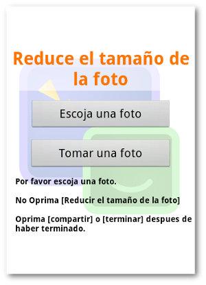 Reducir el tamaño de la foto