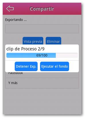 exportando videos en Android con VideoShow