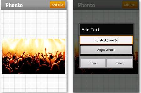 aplicación Android Phonto