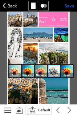 aprende a crear un collage en Android